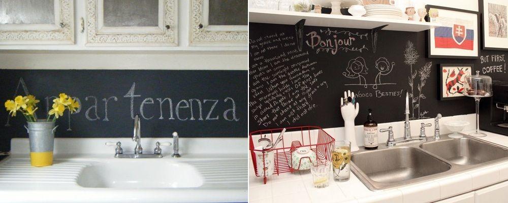 black board backsplash Home Planning  Kitchen Pinterest