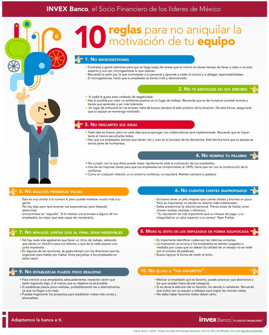 10 Reglas Para No Aniquilar La Motivaci U00f3n De Tu Equipo