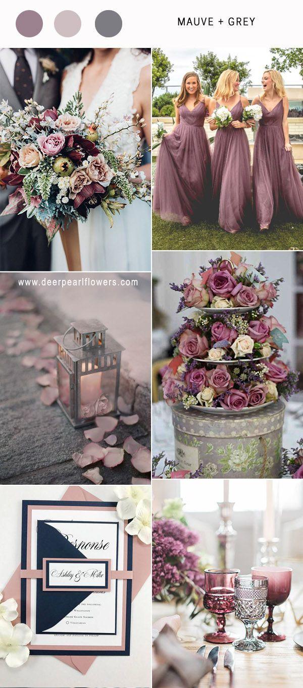 Best 6 Mauve Wedding Color Combos for 2018   Mauve, Vintage wedding ...