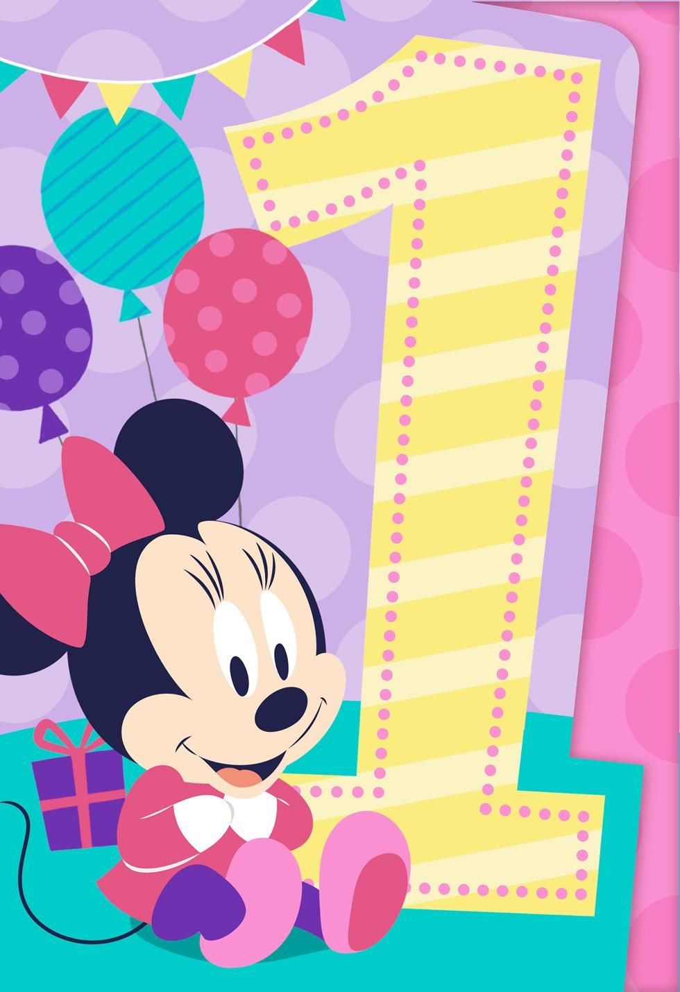 Minnie Mouse Musical 1st Birthday Card Greeting Cards Hallmark Sam 1st Birthday Cards Birthday Greeting Cards Beautiful Birthday Cards