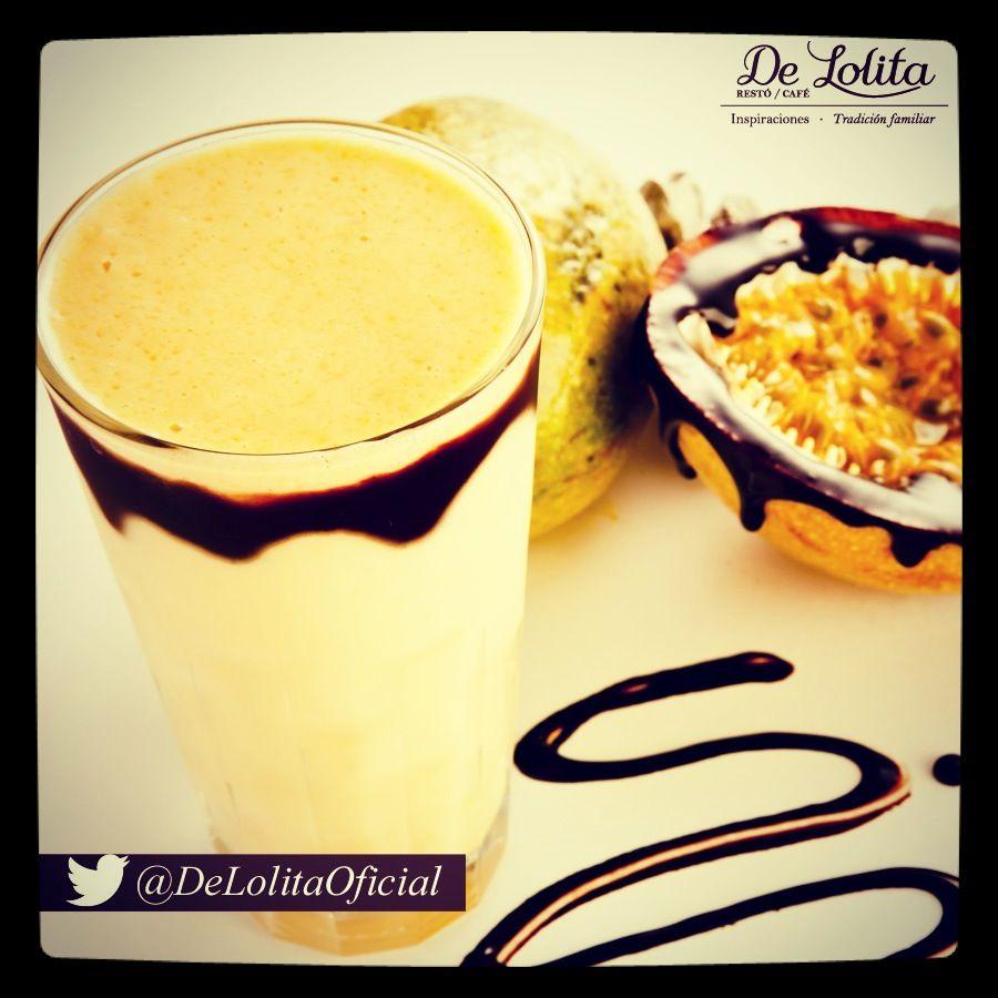 #Batido pasión de #Maracuyá con salsa de #chocolate  #delolita #Medellín #Cali #Colombia