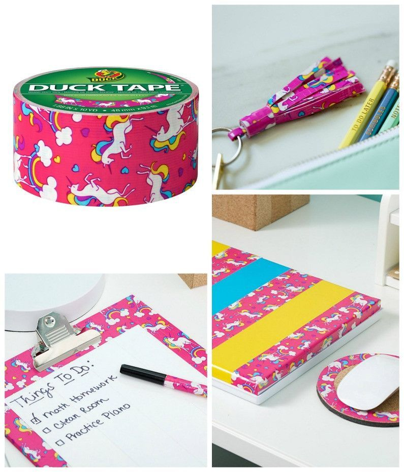 Diy Crafts Unicorn Pattern Duct Tape Diy And Crafts Sewing Tape Crafts Duct Tape