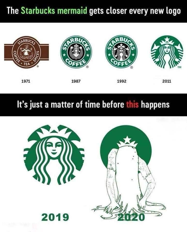 New logo's... They change so much. Starbucks memes