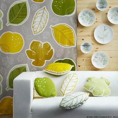 Frunzele din metraj au pris viață pentru a îmbrăca pernuțele www.IKEA.ro/metraj_GURINE
