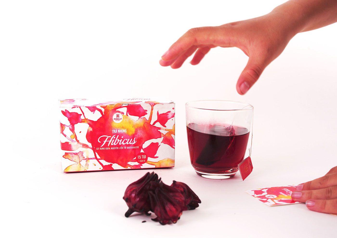 Roselle Vietnam Redesign On Behance Brand Packaging Roselle Packaging Design