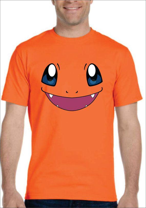Inspired by Charmander face Pokemon T-shirt Men's Women's kids