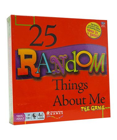 Another great find on #zulily! 25 Random Things About Me Game #zulilyfinds