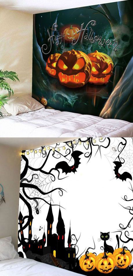 60+ Halloween tapestry Ideas for a Spooky Party Halloween party