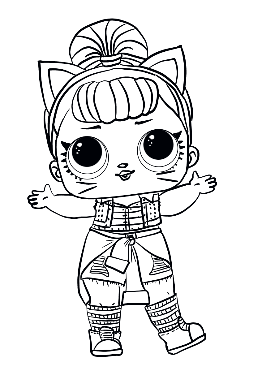 Easy Lol Doll Coloring Pages Concept
