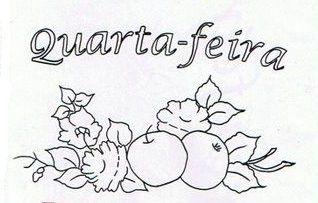 Artes da Nil - Riscos e Rabiscos: Semaninha de frutas com flores.