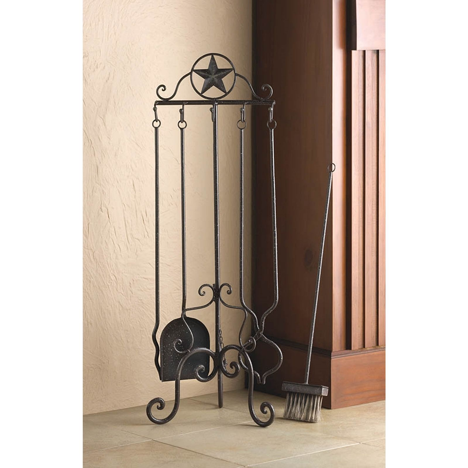 texas style iron fireplace tool set brown metal outdoor da a c cor