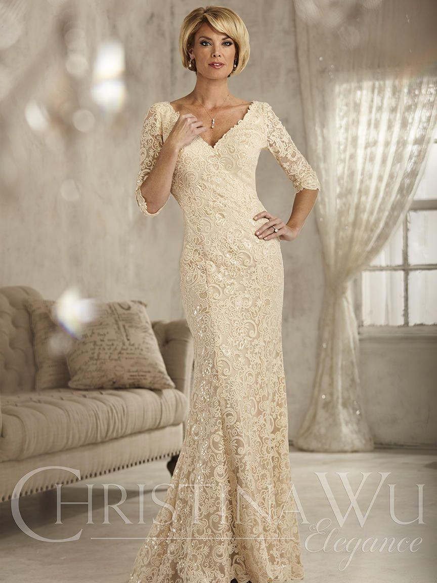 Christina Wu Elegance 17824 Sequin Lace Mother of Bride