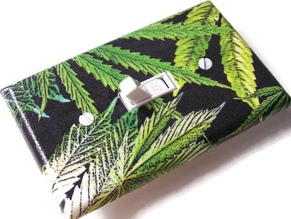 MARIJUANA LEAVES Switchplate Light Switch Plate Outlet by smijims, $10.00