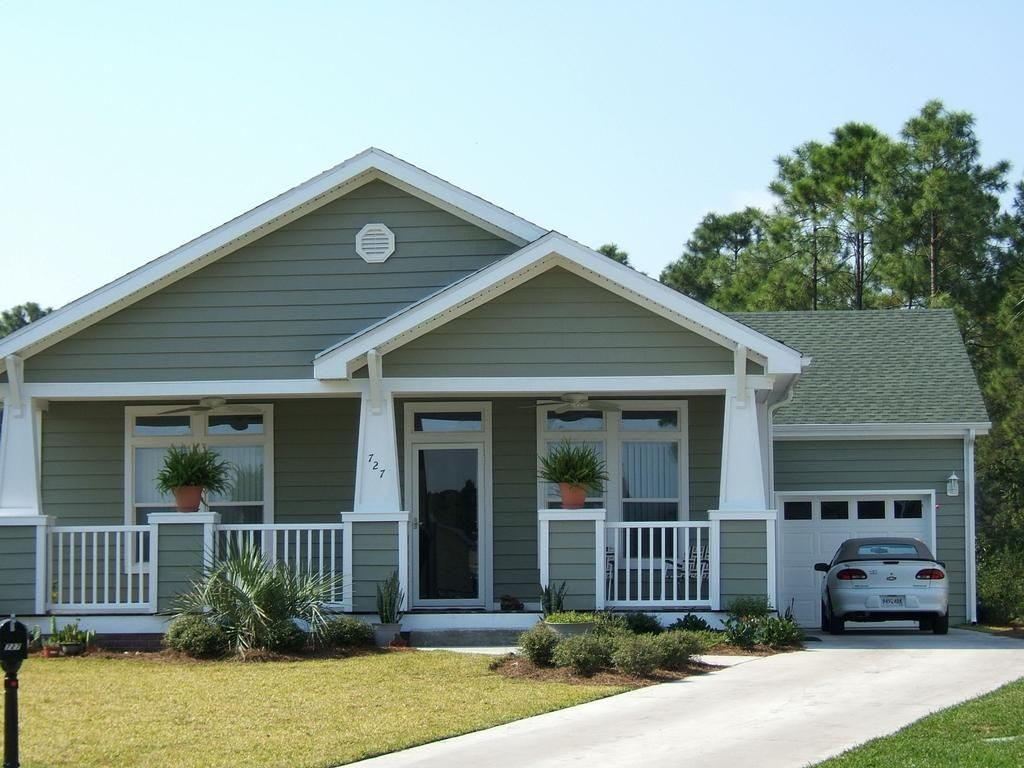 Bungalow With Porch From Palm Harbor Homes In Brooksville Fl Modular Homes Pinterest