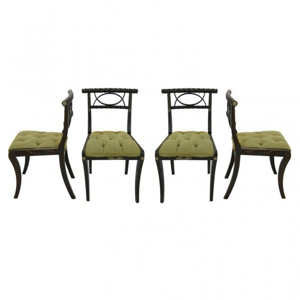 Eßzimmerstühle set of four regency dining chairs seating