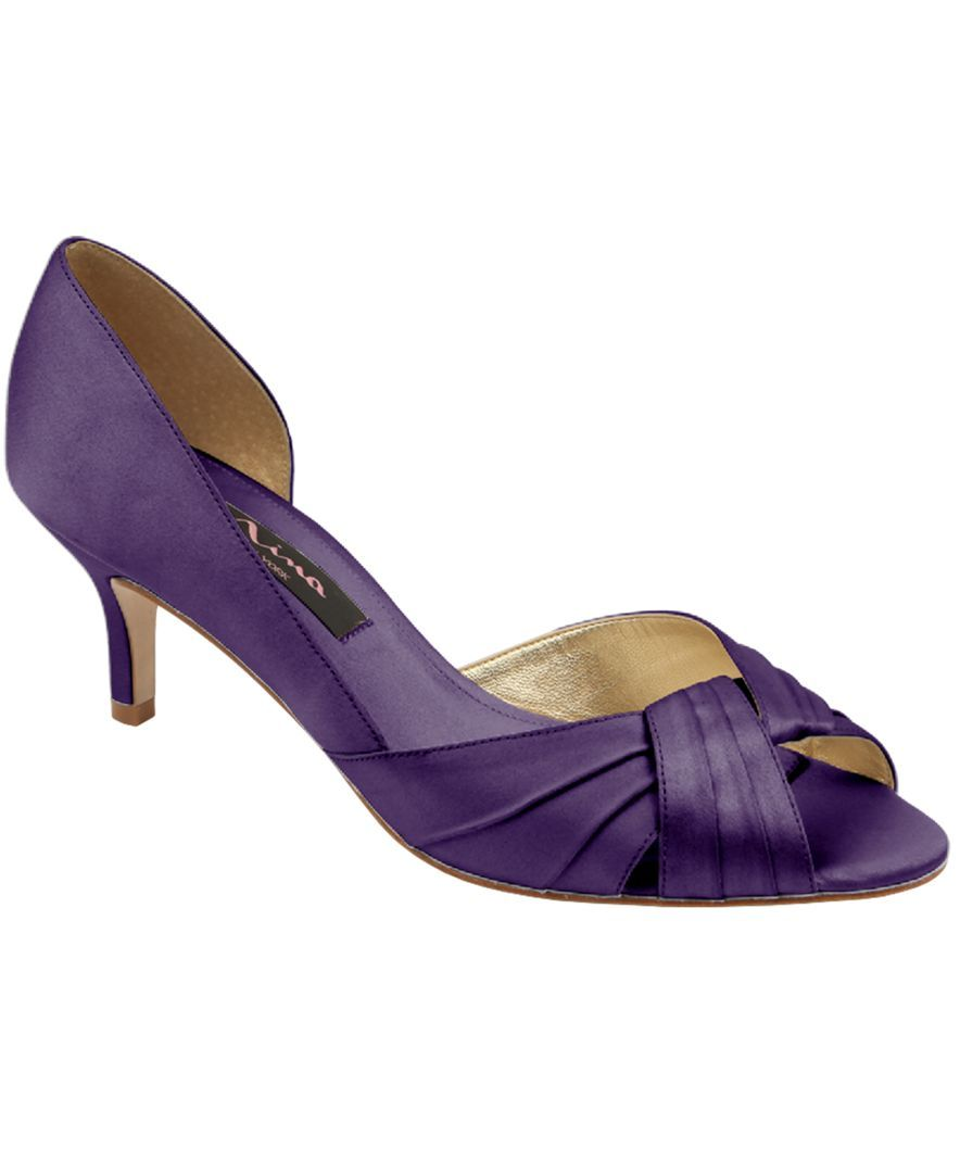 Nina Culver Purple Silver Or Gold Evening Sandals Nina Shoes Evening Shoes