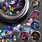 12 Box Glitter Mix Acrylic Gel Nail Art CONFETTI COCKTAIL Glitter Sequins Decor
