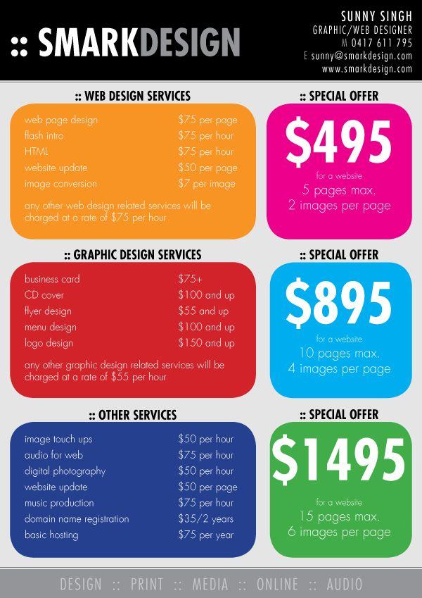 Smark Design Graphic Web Media Print Audio Web Design Pricing Web Design Website Design Pricing