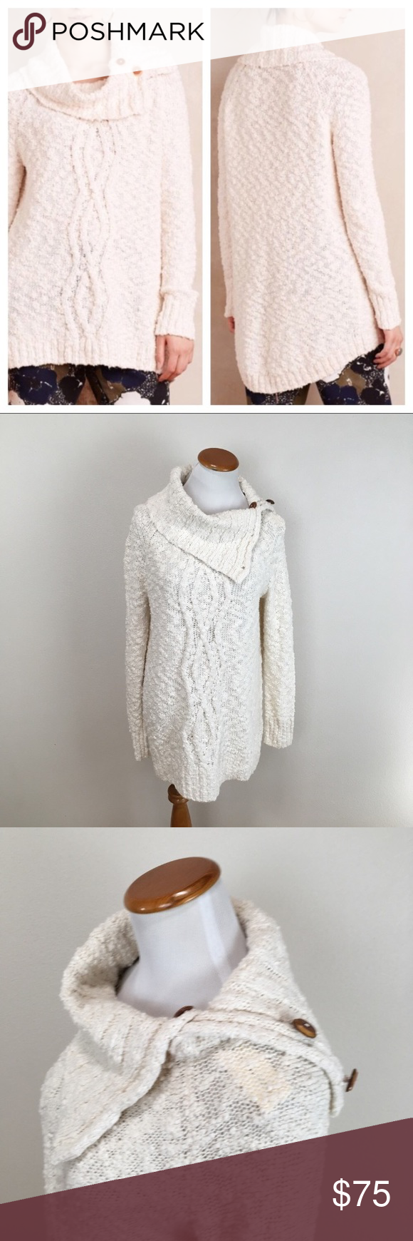 NWT Moth Anthro Cowl Neck Knit Sweater Medium NWT | Cowl neck ...