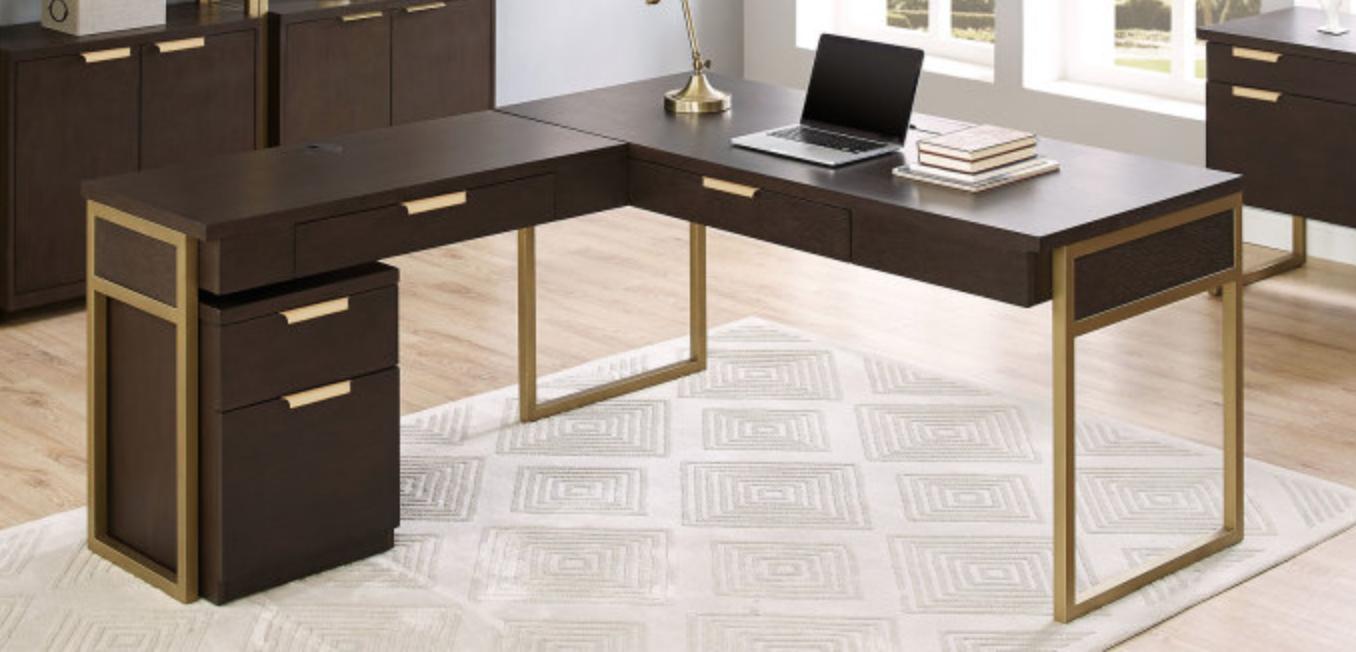 L Shape Desk W Rolling File Cabinet Rolling File Cabinet L