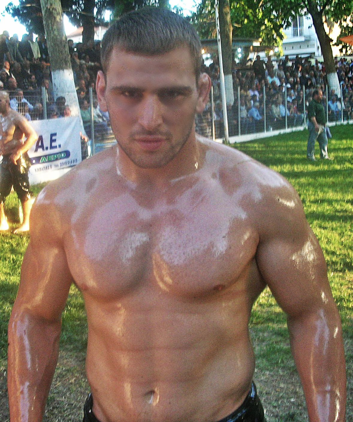 gay muscle oil