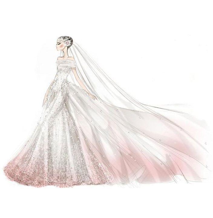 Not Found Wedding Dress Sketches Valentino Wedding Dress Anne Hathaway Wedding