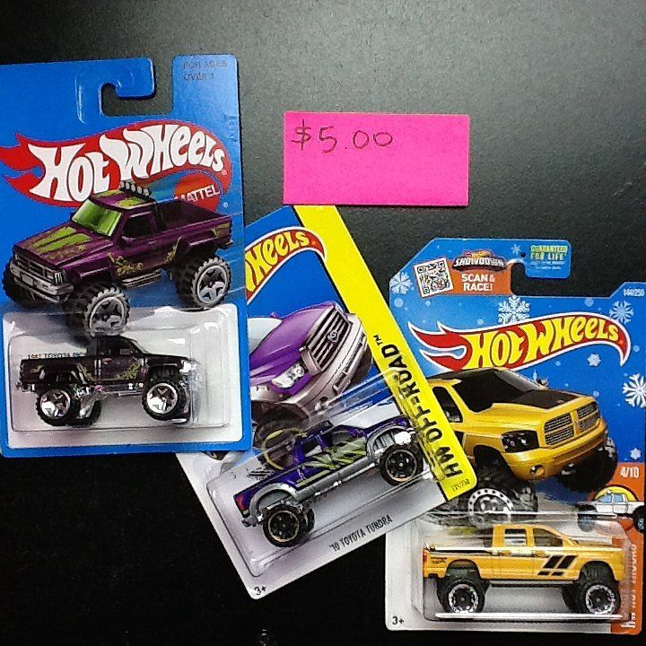 Hot Wheels cars For Sale $5.00 for all 3 trucks Price does not ...