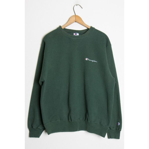 93dfa3d6 Green Champion Sweatshirt Ragstock ($25) ❤ liked on Polyvore featuring  tops, hoodies, sweatshirts, green sweatshirt, champion sweatshirts and  green top