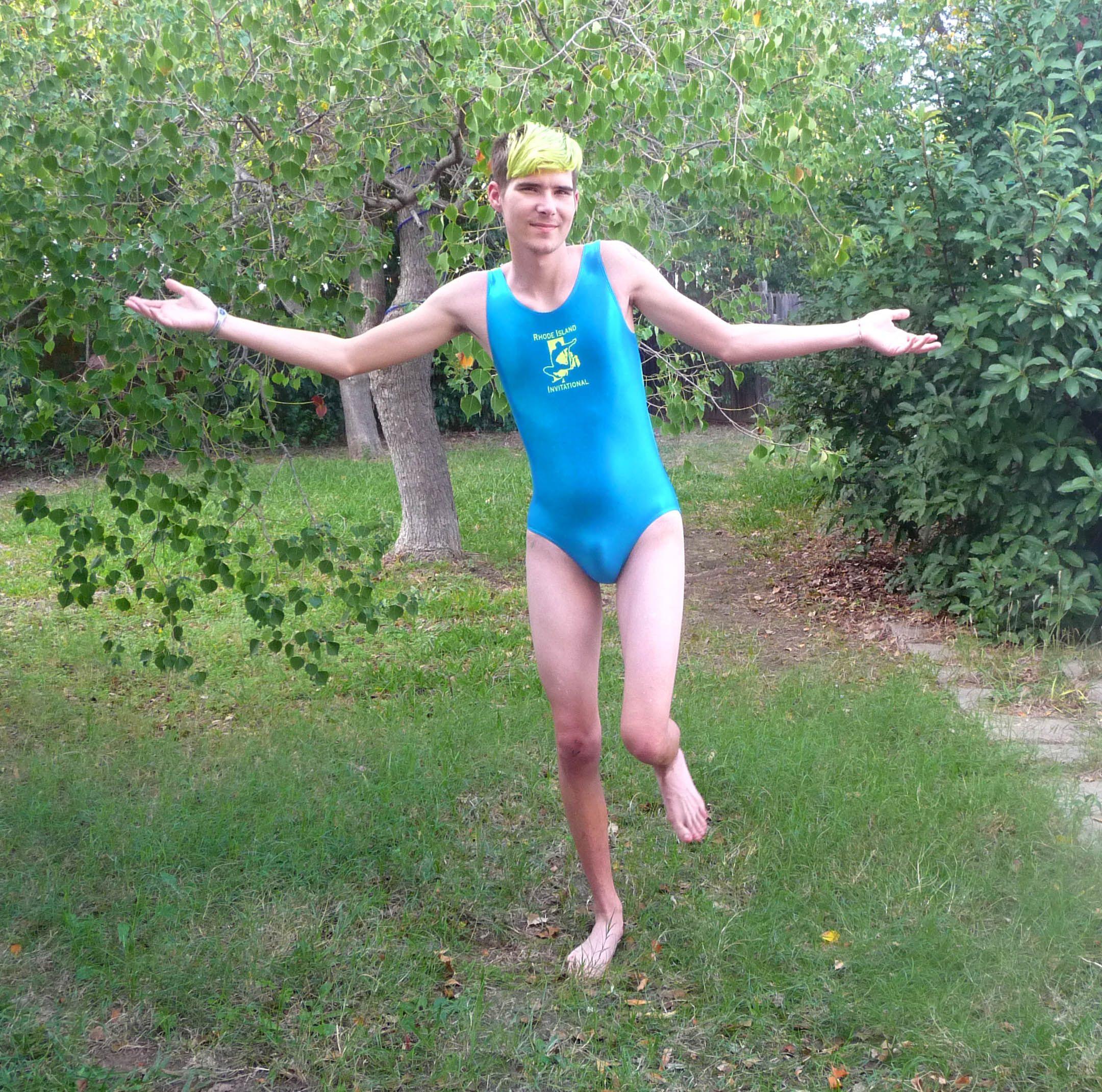 b2c399b2fa Boy wearing a Leotard Boys Wear, Leotards, Wetsuit, How To Wear, Swimwear
