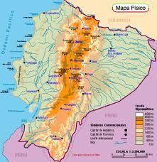 Map Of The Andes Mountains Terrain Map Ecuador Map