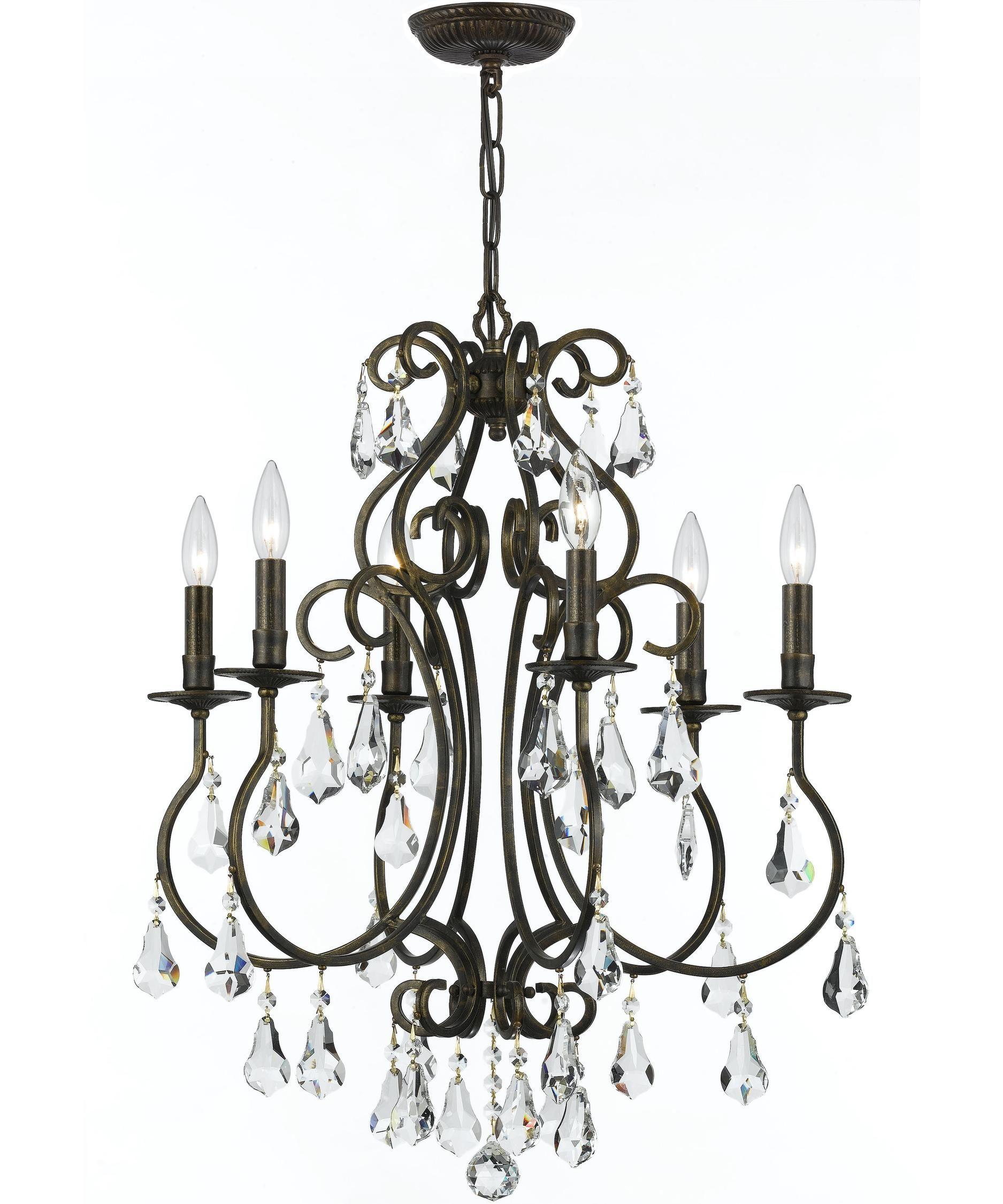 Crystorama ashton inch wide light mini chandelier in
