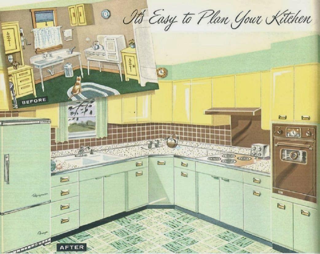 Green Kitchens Retro Renovation Retro Kitchen Vintage Interiors