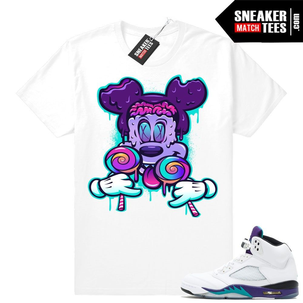 a41686b5a9800 Air Jordan 5 Grape Fresh Prince 2018 - Official Sneaker Match Tees ...