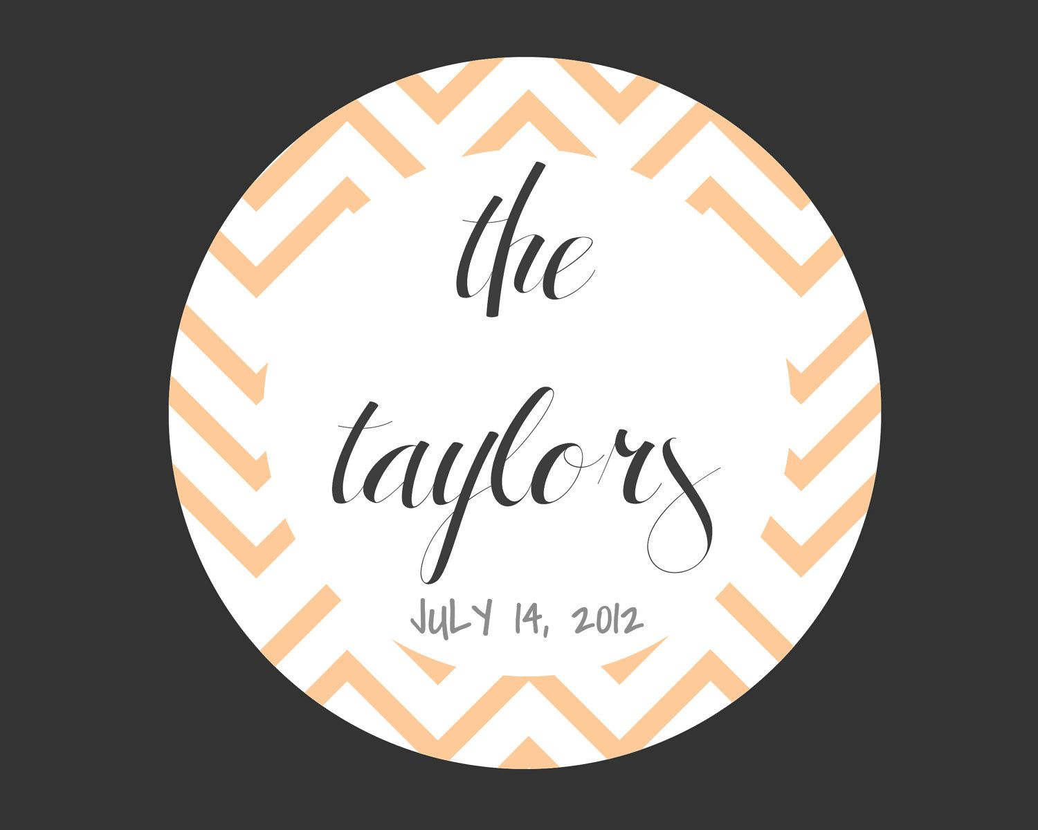 Custom Personalized Wedding Favor Labels Set of 150 by papersushi ...