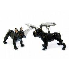 Painted French Bulldog Animal Cufflinks