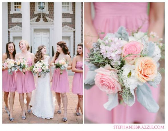 Rose Petal Bridesmaid Dresses