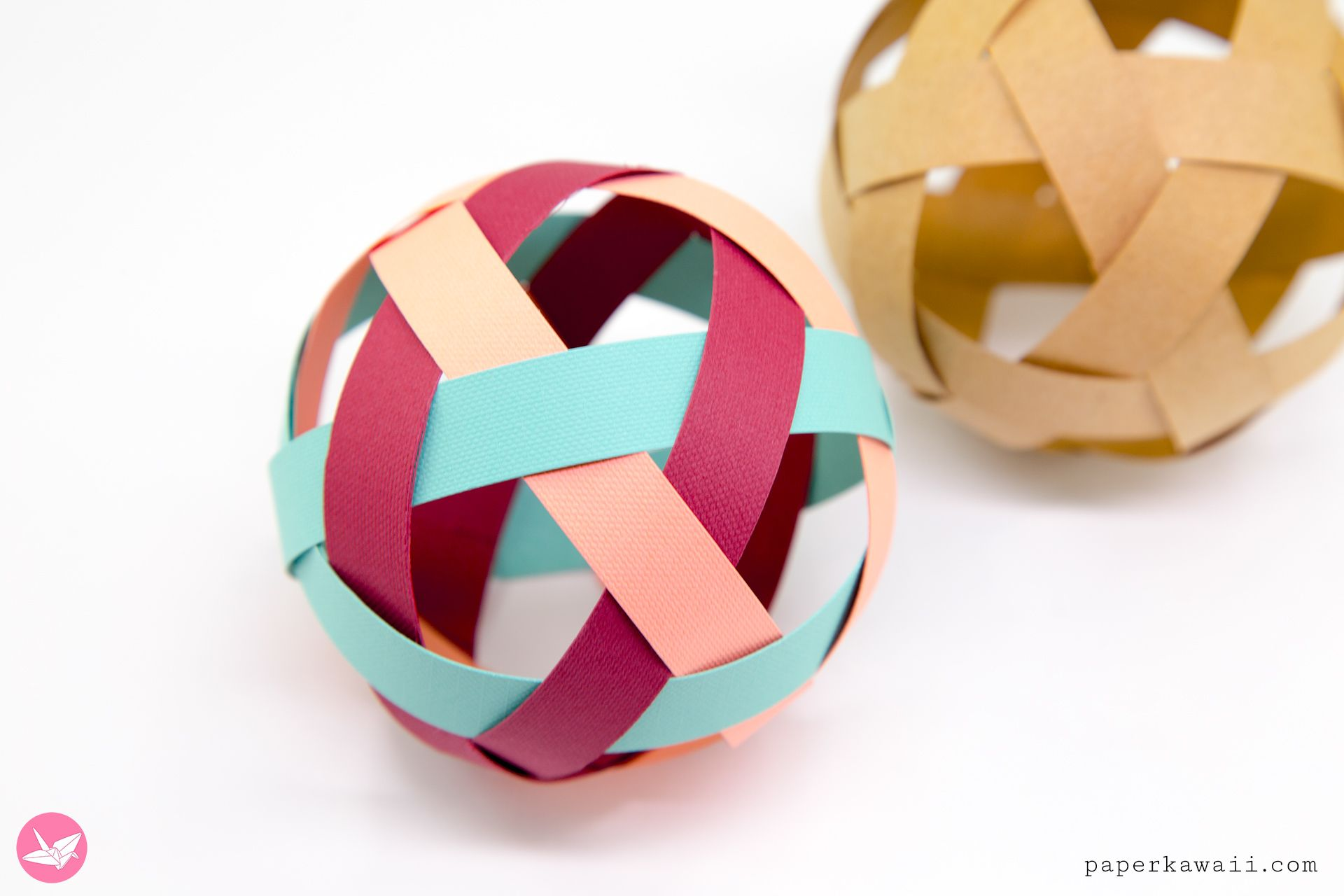 Easy Woven Paper Ball Decoration Tutorial   Paper Kawaii Gallery