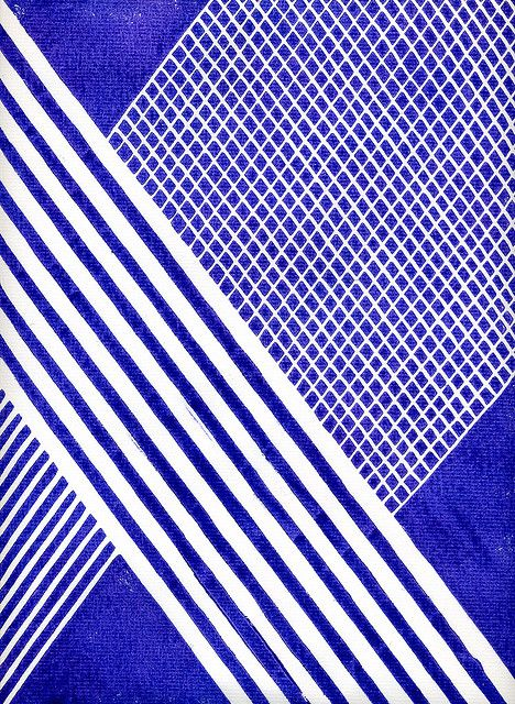 Kate Kosek: K, lino print