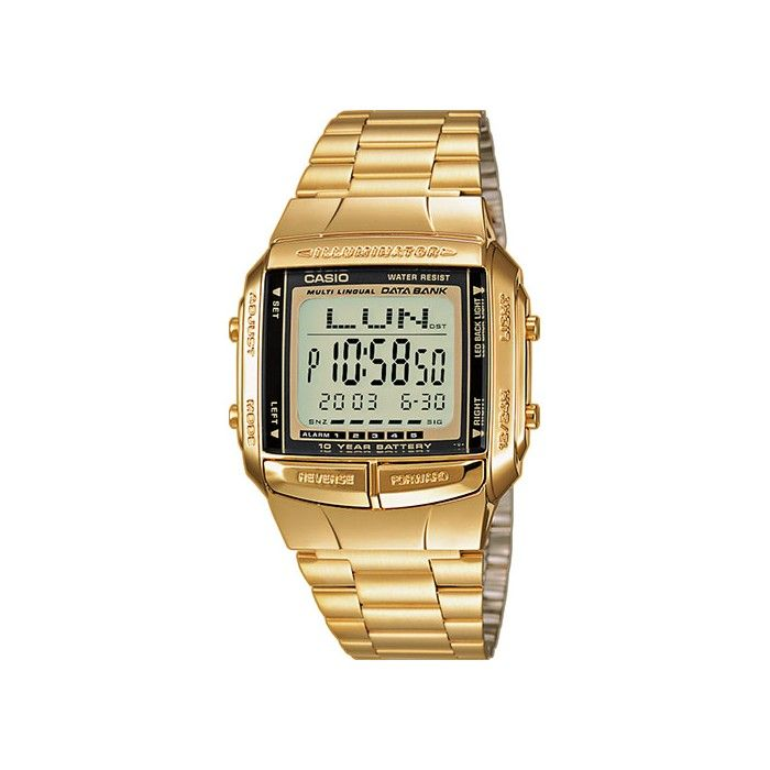 b3b4d26f8dc Relógio Casio Collection Digital Dourado - DB-360GN-9AEF