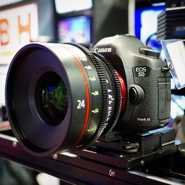 Canon 5d Mark Iii With 24mm Cine Lens Nabshow B H Photo Video Pro Audio Camera Lenses Canon Canon 5d Mark Iii Photography Camera
