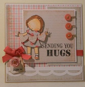 Sending You Hugs by princessgogs - Cards and Paper Crafts at Splitcoaststampers