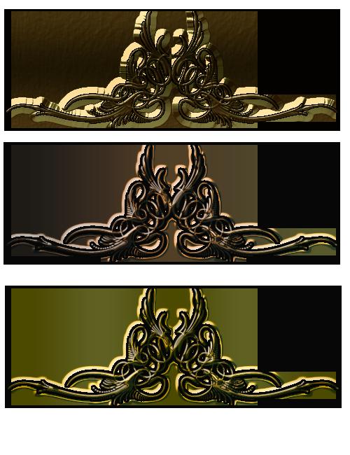 Ornamenty zlaté 2 | Tvoření