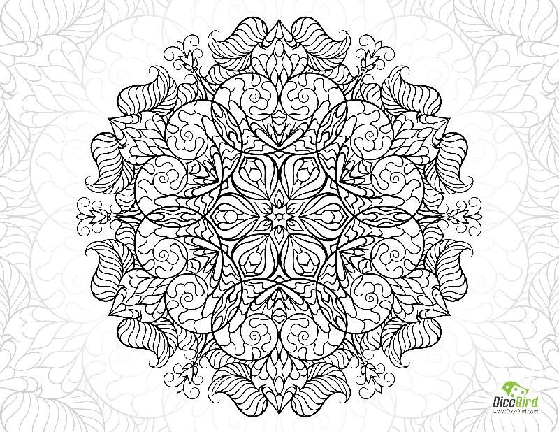 Snail Mandala Flower Free Hard Coloring Pages Flower Coloring