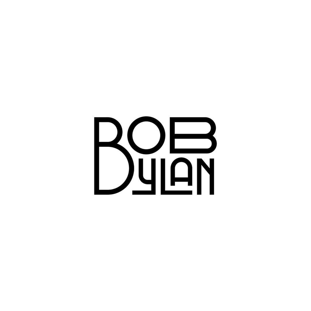 Bob Dylan by Rafael Serra @faeldzn - LEARN LOGO DESIGN @learnlogodesign @learnlogodesign - Want to be featured next? Follow us and tag #logoinspirations in your post