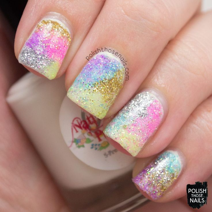 Spring Fashion #2 | Glitter nails, Loose glitter and Spring nails