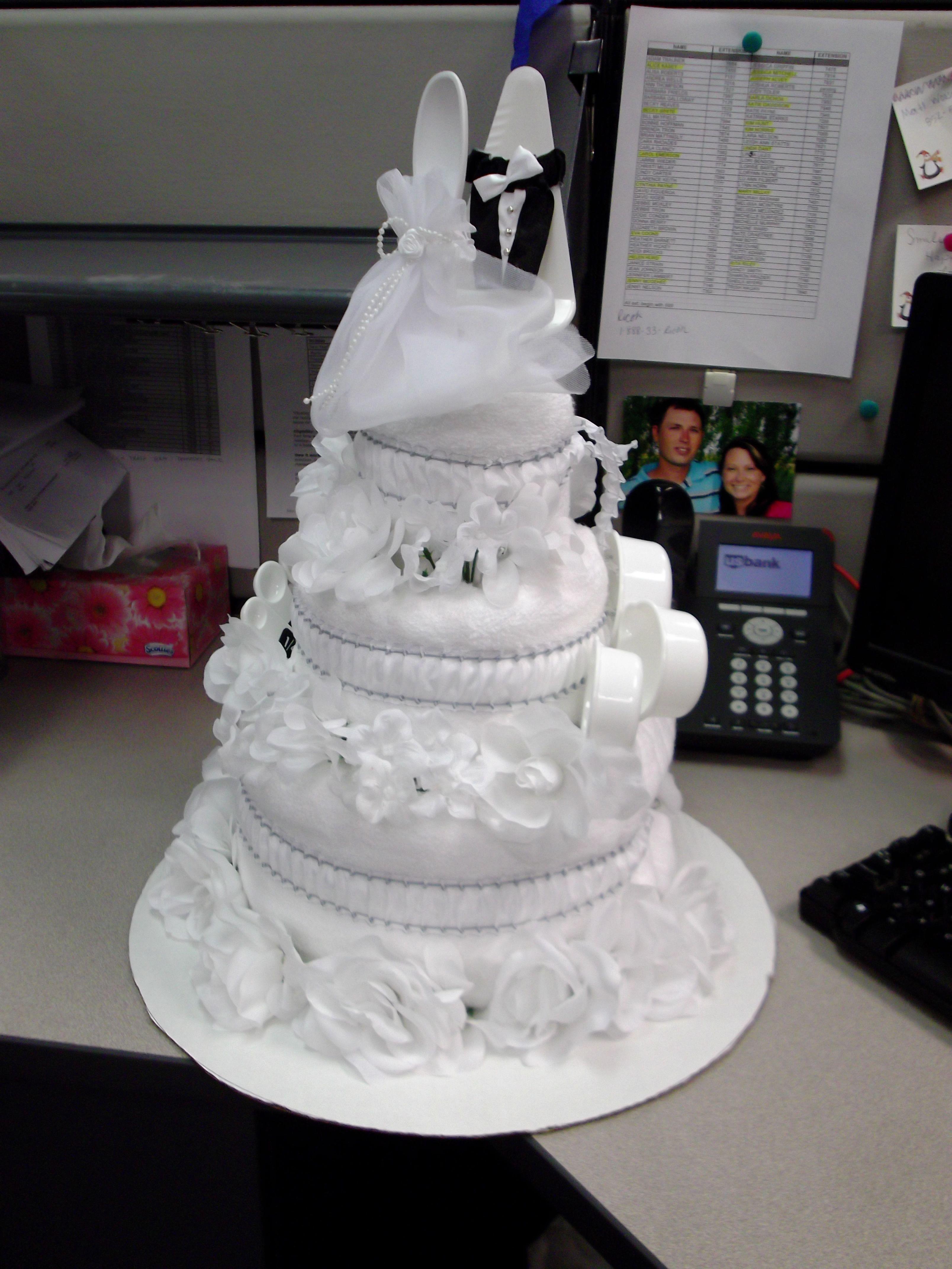Wedding Towel Cake Glitz Towel Cake Bridal Gift Wedding