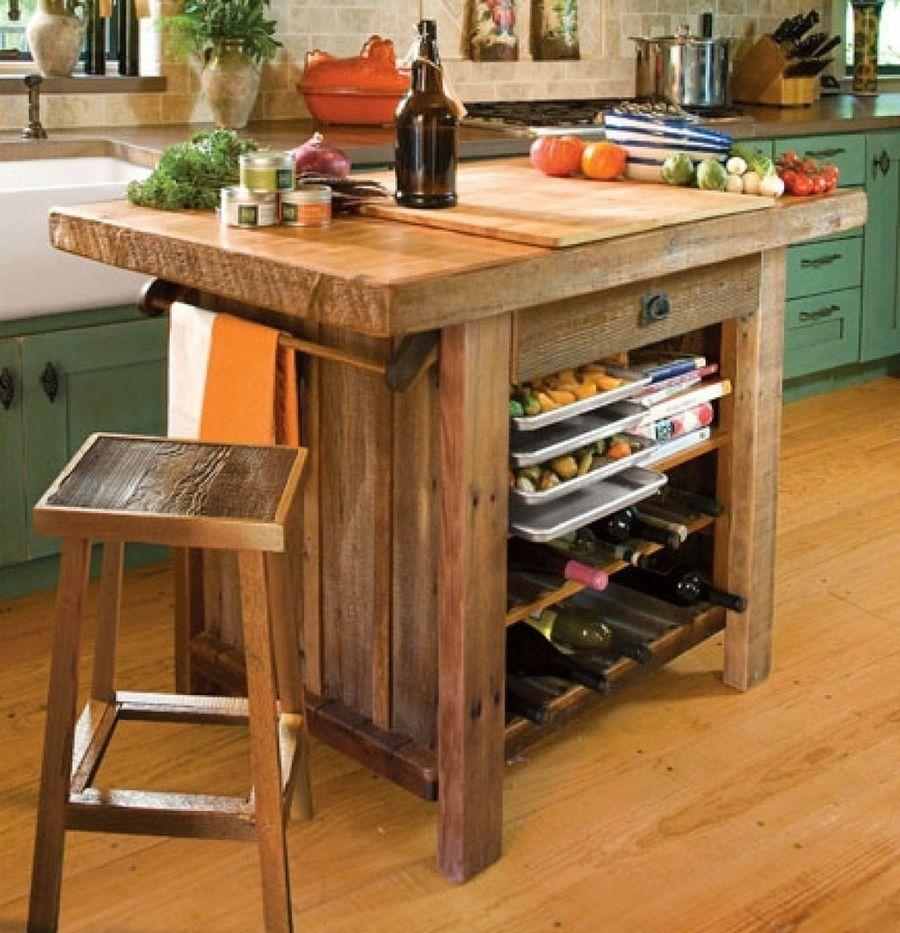 Toques r sticos para una cocina con encanto rural casas for Mesas para cocinas estrechas