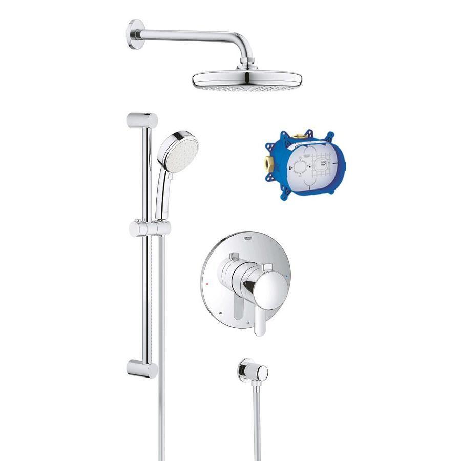 Grohe Grohflex Chrome 2 Handle Shower Faucet With Valve Ksr