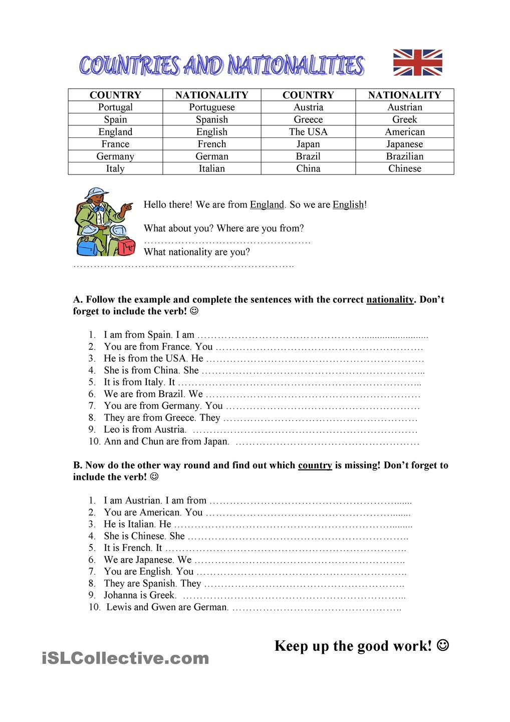 Countries / Nationalities  grammar  Pinterest  To be, Student  printable worksheets, education, learning, and worksheets Auxiliary Verbs Worksheets 2 1440 x 1018