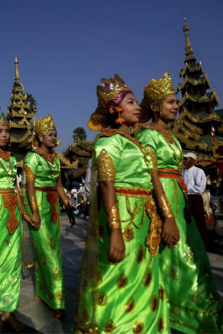 Ceremonial progression in exotic Burma